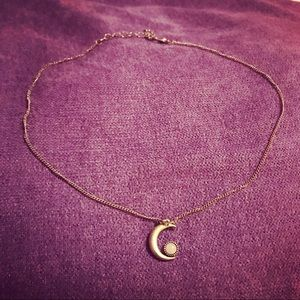 Crescent Moon Necklace 🌙