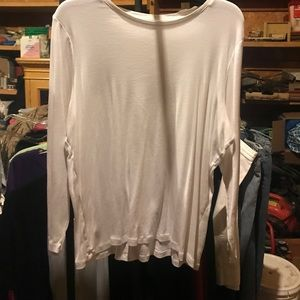 White long sleeve top 2x JCP