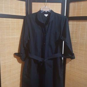 Gap long maxi shirt dress