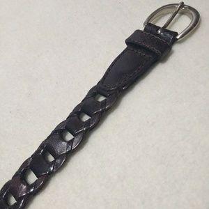 Capezio Brown Leather Belt
