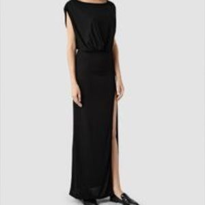 All Saints Black Muse Dress in size 8