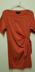 Jones New York Gathered Side Tie Swag Dress