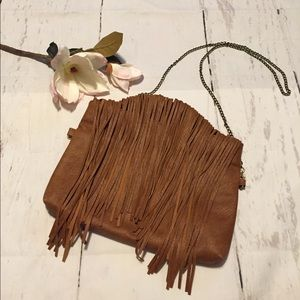 3AM Forever Brown Fringe Crossbody Purse