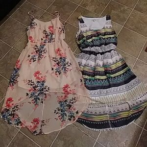 2 sexy CHARLOTTE RUSSE hi lo dresses SMALL