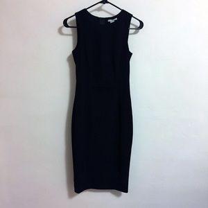 H&M Black Sheath Pencil Work Dress Size 2