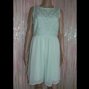 Mint Floral Dress 536