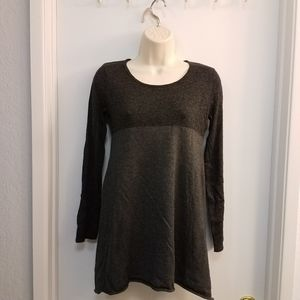 Style & Co Block Tunic Top PP Gray SW1