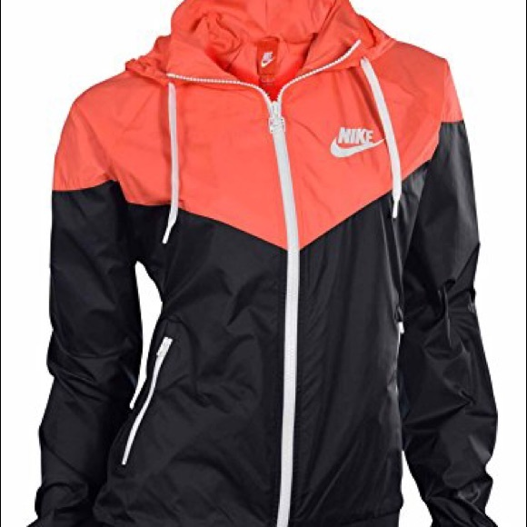 b2e2df8c36 Black and Coral Nike Windbreaker Jacket. M 59eb1e3813302a87d6030ef3