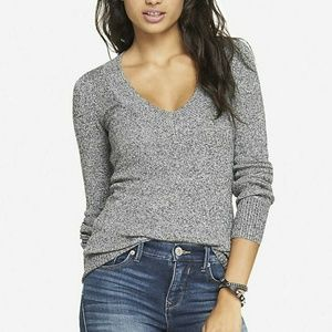 EXPRESS MARLED GRAY SWEATER NWT