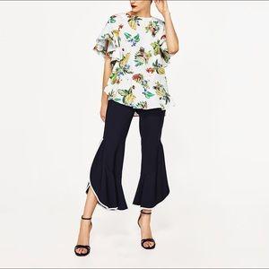 Zara oversized tropical print shirt