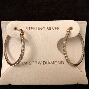 Sterling Silver 1/4 CT TW Diamond Earrings