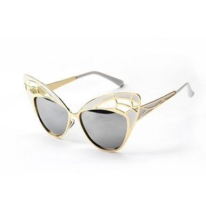 Retro Metal Cat Eyes Sunglasses