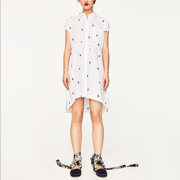 346a5145e50 Zara pineapple shirt dress