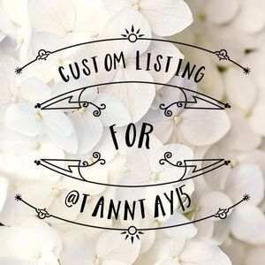 Custom listing for @tanntay15