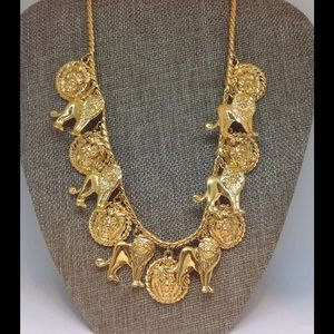 LION'S Runway Necklace Gold Full Bodys /Medallions