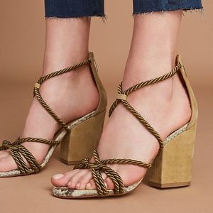 b4427ee18bf Anthropologie Shoes - Anthropologie Elysess rope lace up heel sandal