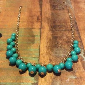 💟Teal and gold chain necklace from The Limited