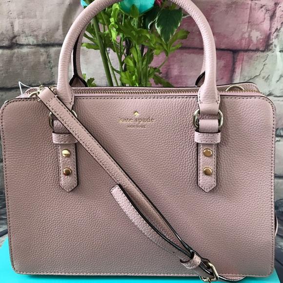 1a39fa937e Kate Spade Lise Mulberry Dusty Pink Satchel Bag