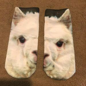 Llama Ankle Socks Brand New