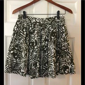 Kate Spade Olive Print Skirt
