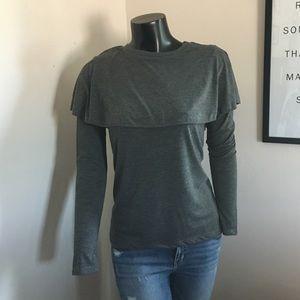 Zara Gray Long Sleeve Top
