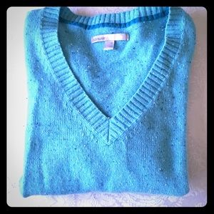 Medium🍁Sky Blue specked Old Navy Sweater