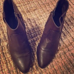 H & M Brown Pointed booties ( non leather)