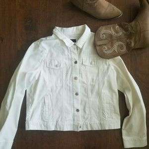Brand new white denim jacket