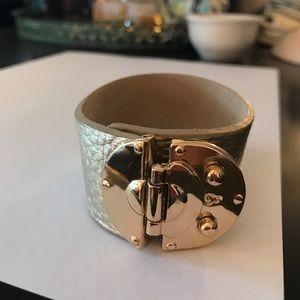 Gold leather bracelet!