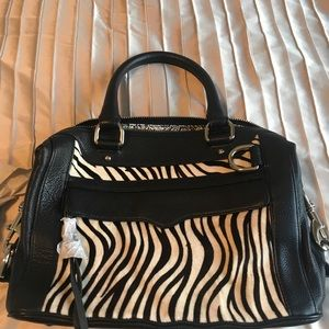 NWOT Rebecca Minkoff zebra print satchel