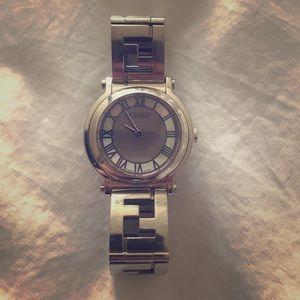 Silver FENDI Watch. In good condition.
