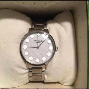 Kate Spade Silver Gramercy Dot Watch