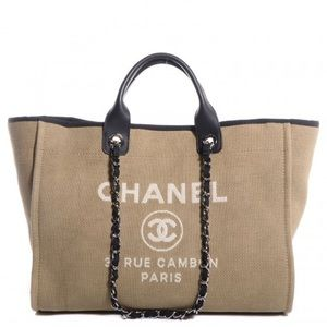 Chanel Beige Deauville Large Tote