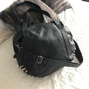 Zara studded leather bag