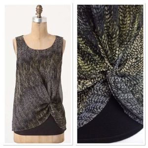 XS ANTHROPOLOGIE Deletta twisted feather tank