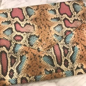 Large H&M snakeskin clutch