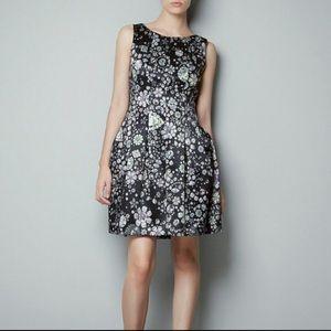Zara Basic Tulip Jewel Gemstone Diamond Dress sz M