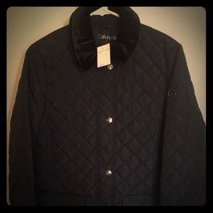 NWT Calvin Klein Women's Black Quilted Jacket