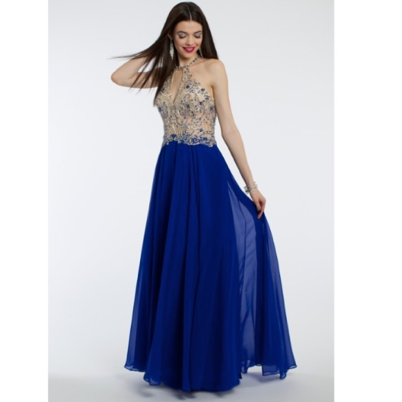 Dresses Royal Blue Embellished Prom Dress Poshmark