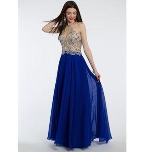 Dresses & Skirts - Royal blue embellished prom dress