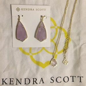 Kendra Scott Carla's & Cory Necklace in Amethyst