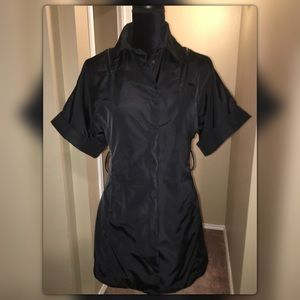 Kenneth Cole Black Nylon Lined Short Sleeve Jacket