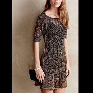 Cecilia Prado Metallic Open Knit Sweater Dress S/P