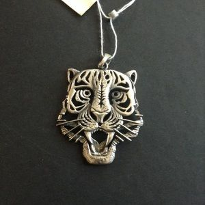 Sterling Silver Fierce Tiger Pendant