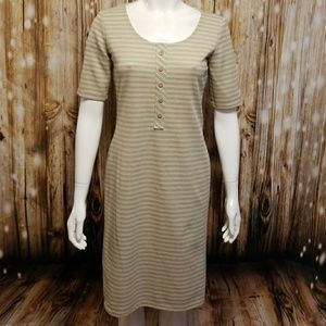 "{vintage} Striped ""rainbow"" knee length dress"