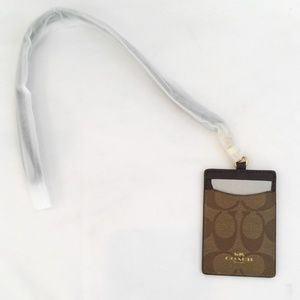 Coach ID Holder Case Lanyard Necklace F63274