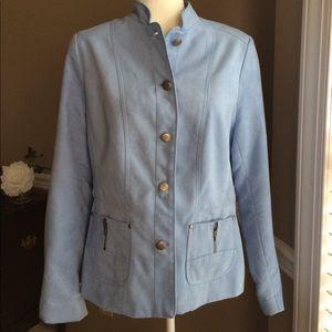 TANJAY robin's egg blue women's jacket, Sz 10