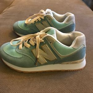 Mint Green New Balance Sneakers