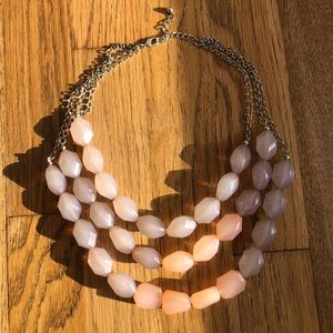 Chunky pink and purple Statement Necklace