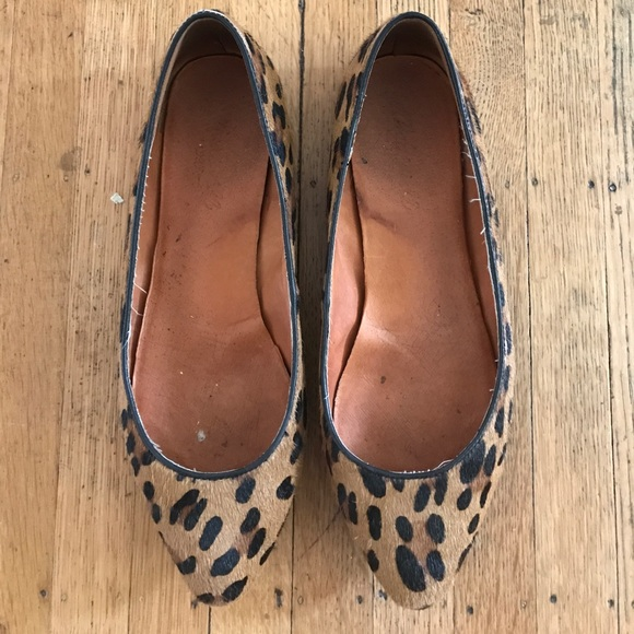 Madewell Shoes - Madewell Sidewalk Skimmer Flats in Leopard
